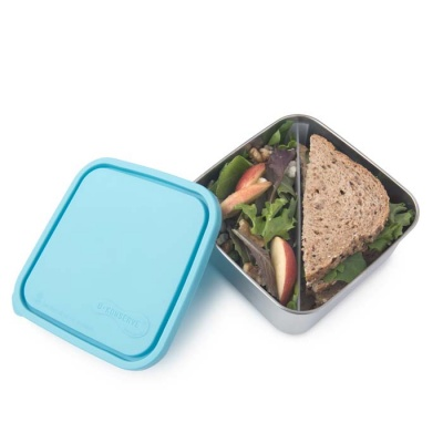 Divided Large Square To-Go Container